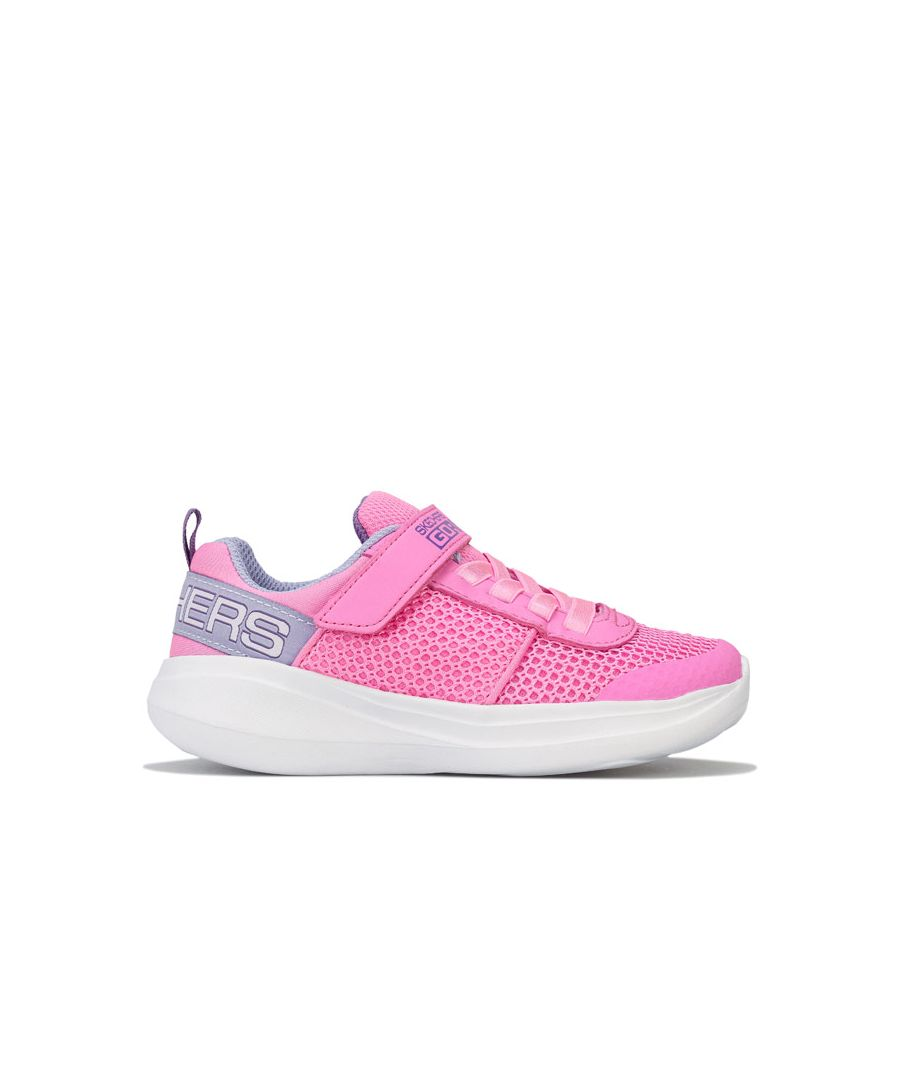 Image for Girl's Skechers Junior Fast Viva Valor Trainers in Pink