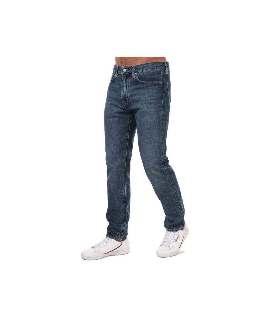 Image for Men's Levis Wellthread 502 Taper Jeans Dark Blue 29Rin Dark Blue
