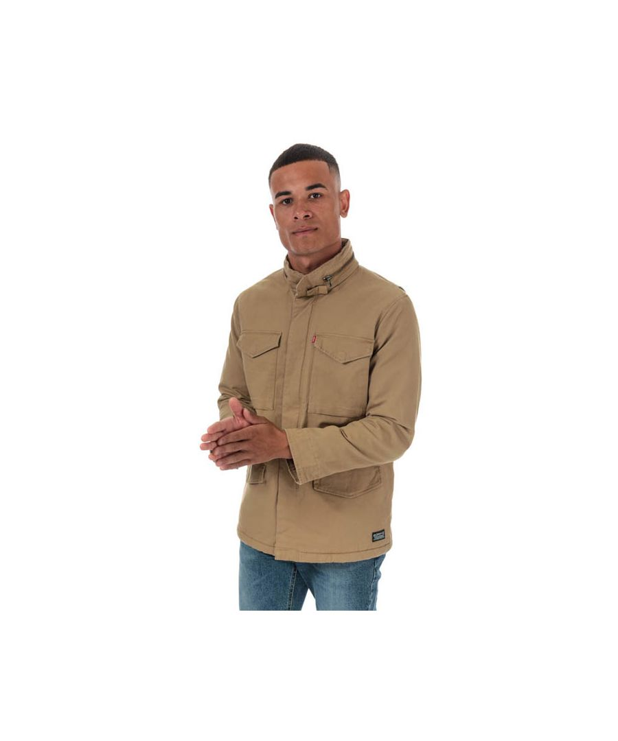 Image for Men's Levis Sherpa Field Coat in Sand
