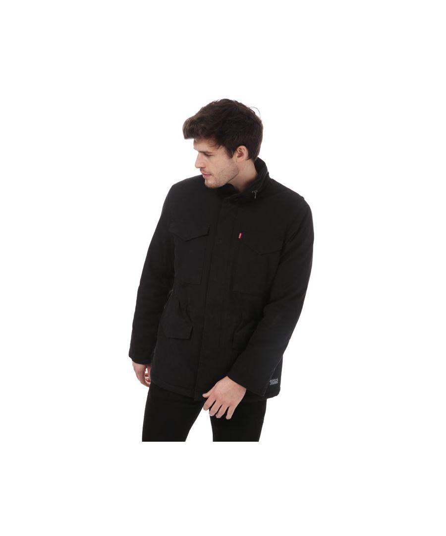 Image for Men's Levis Sherpa Field Coat in Black