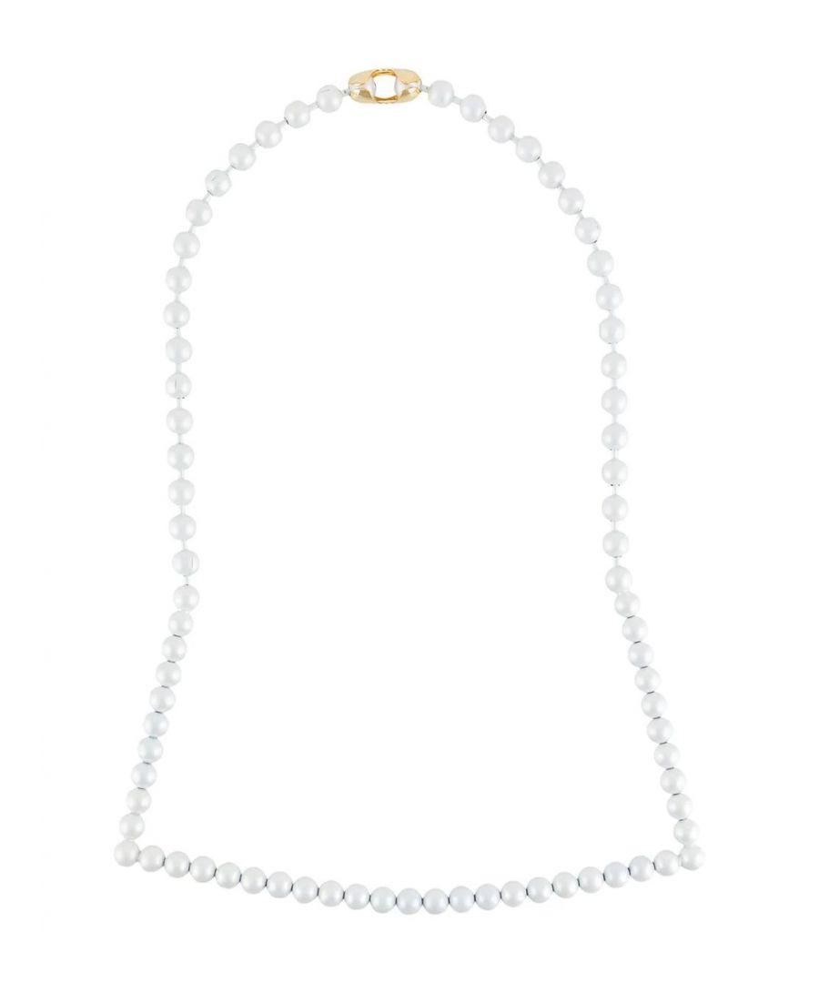 Image for MAISON MARGIELA WOMEN'S S32UU0123S12678961 WHITE METAL NECKLACE