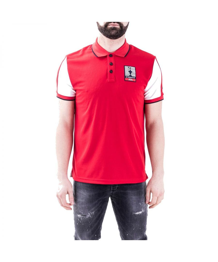 Image for NORTH SAILS MEN'S 4520090P0490230 RED POLYESTER POLO SHIRT