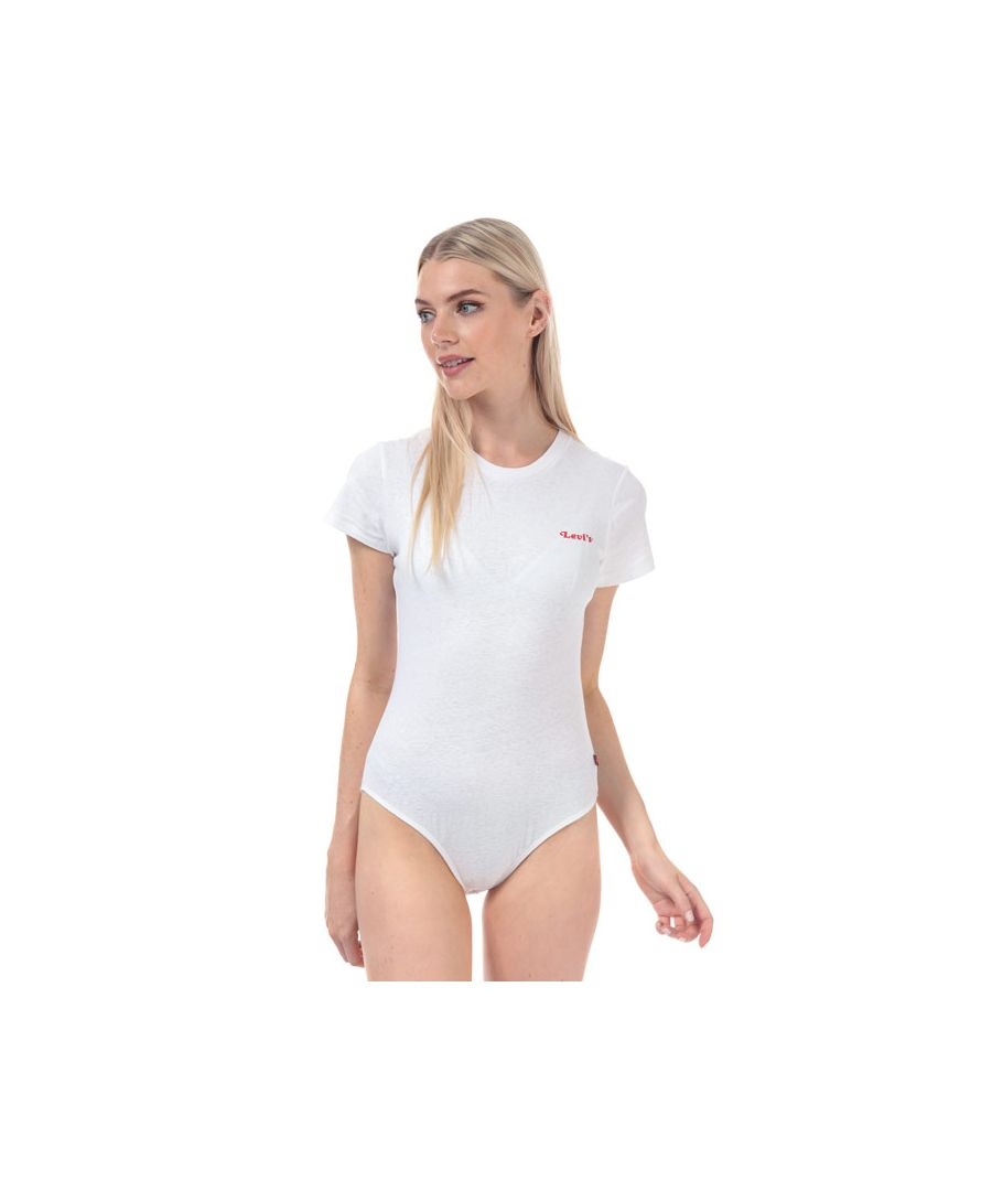 Image for Women's Levis Graphic Tee Bodysuit in White