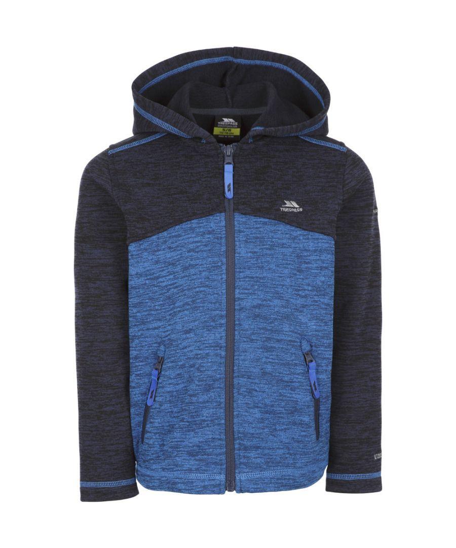 Image for Trespass Boys Value AT200 Full Zip Melange Fleece Jacket