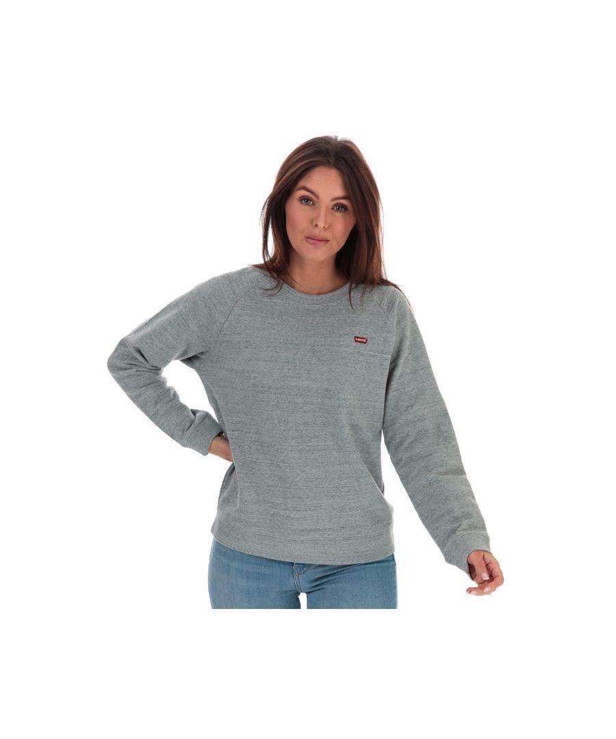 Image for Women's Levis Relaxed Crew Neck Sweatshirt Grey Marl 8in Grey Marl