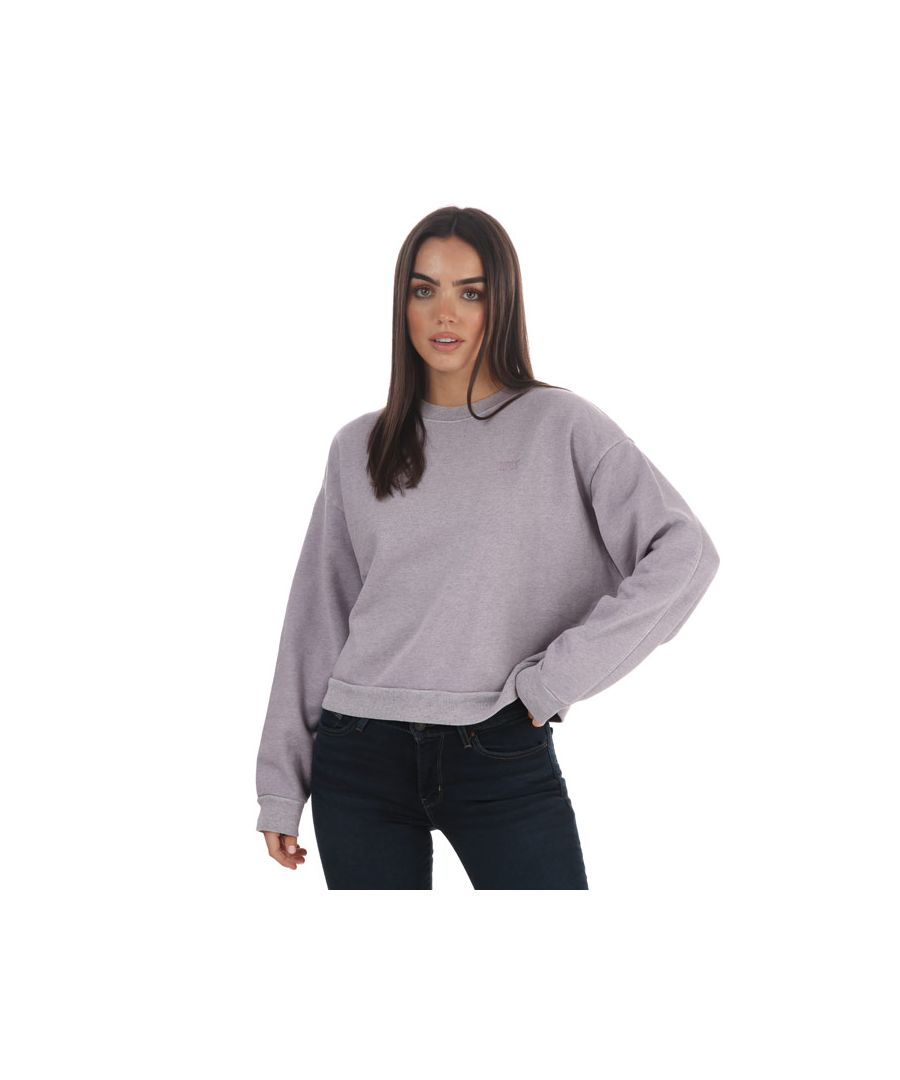 Image for Women's Levis Diana Crew Neck Sweatshirt Lavender 6in Lavender