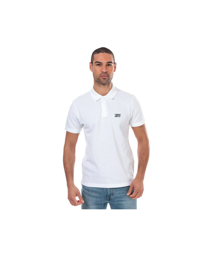Image for Men's Levis Authentic Logo Polo Shirt in White