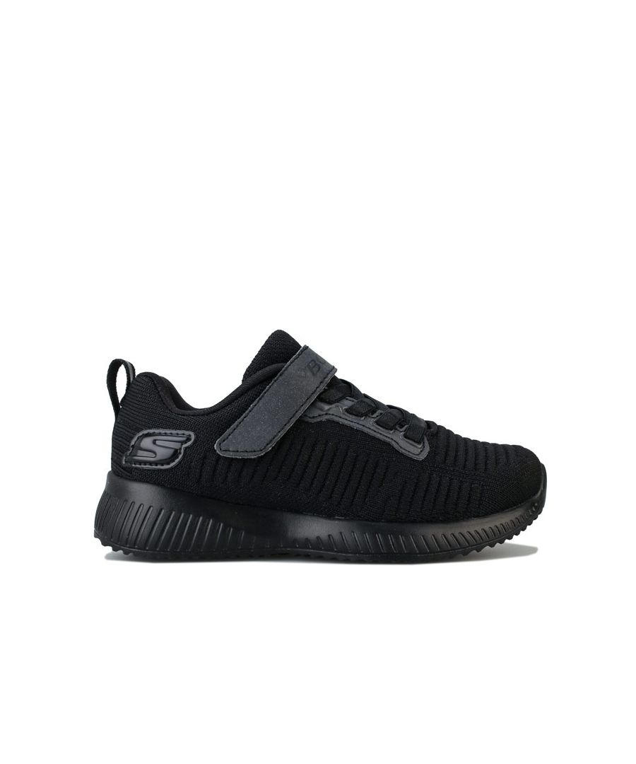 Image for Girl's Skechers Junior Squad Charm League Trainers in Black