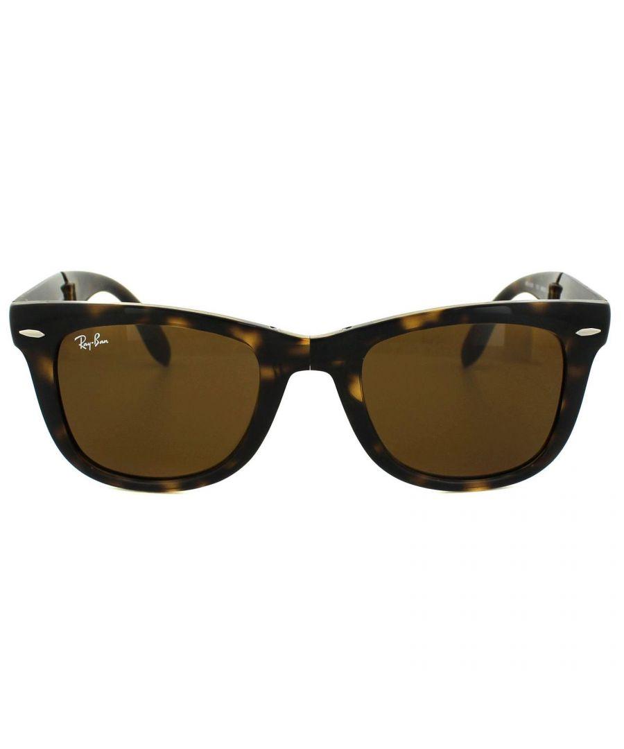 Image for Ray-Ban Sunglasses Folding Wayfarer 4105 710 Havana Tortoise Brown 50mm