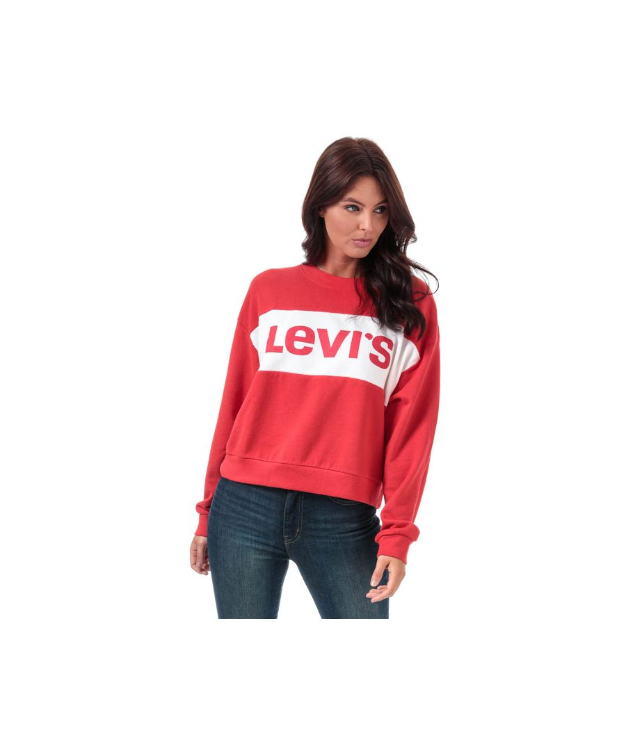 Image for Women's Levis Madison Crew Sweatshirt in Red