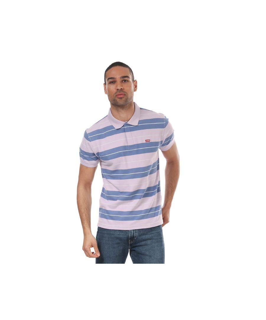 Image for Men's Levis Performance Housemark Polo Shirt Lavender Sin Lavender