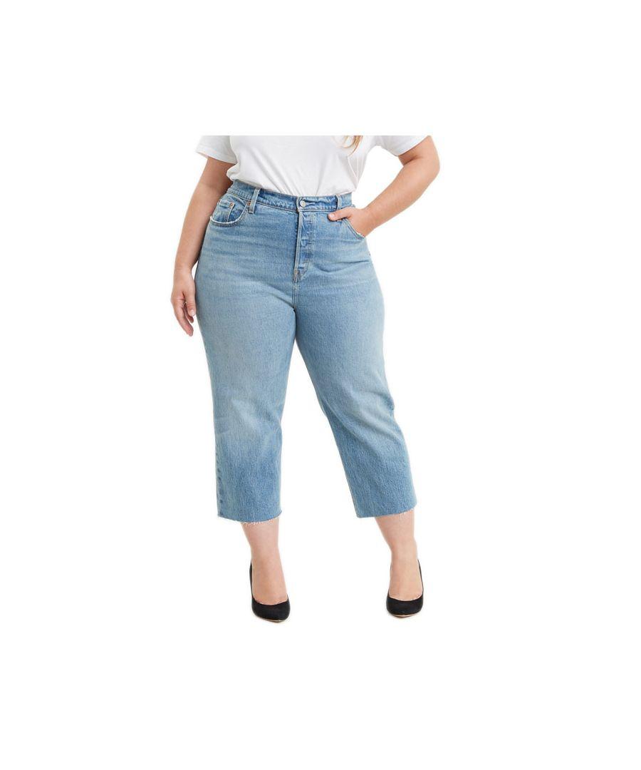 Image for Women's Levi's 501 Plus Crop Jeans Denim 18In Denim