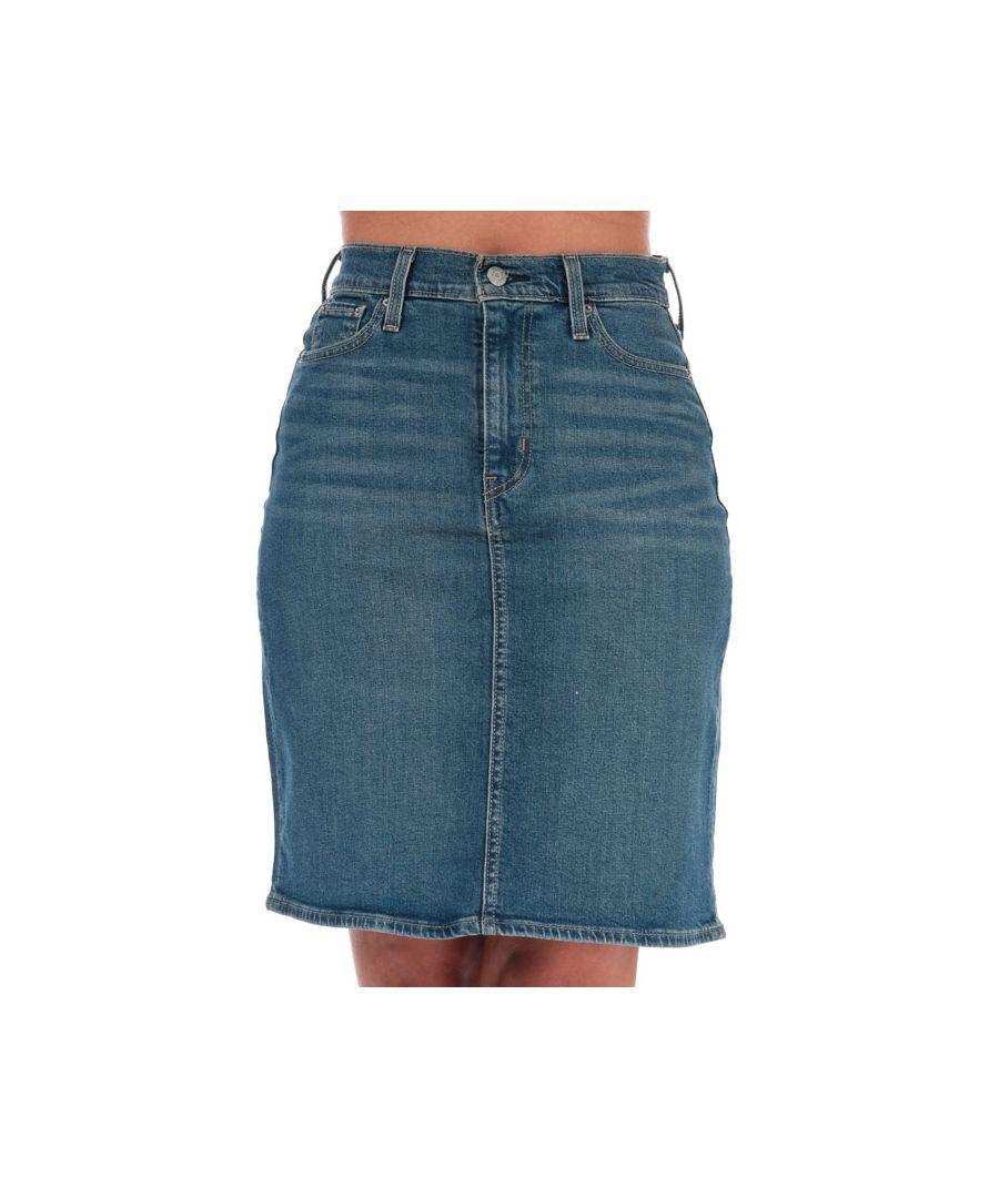 Image for Women's Levis Classic Skirt Blue 26 inchin Blue