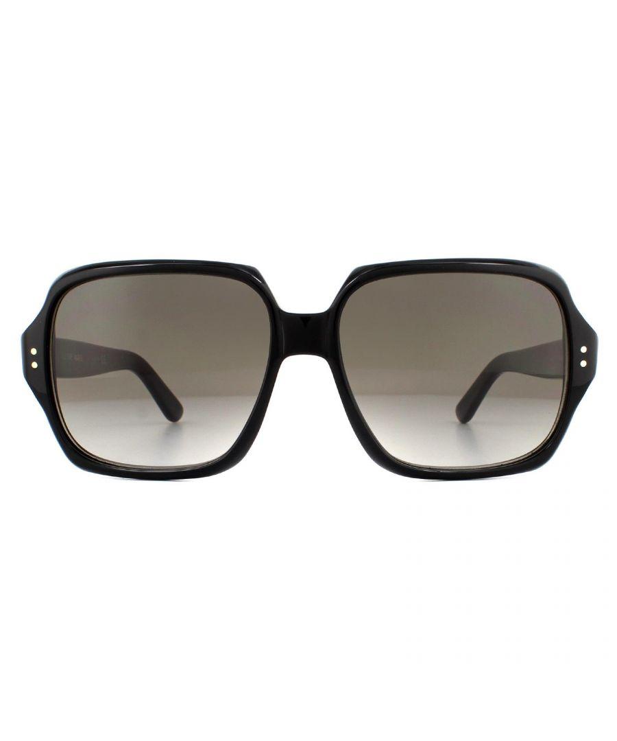 Image for Celine Sunglasses CL40074I 01F Shiny Black Brown Gradient