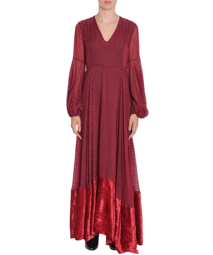 Image for AINEA WOMEN'S F7D12A4 BURGUNDY POLYAMIDE DRESS