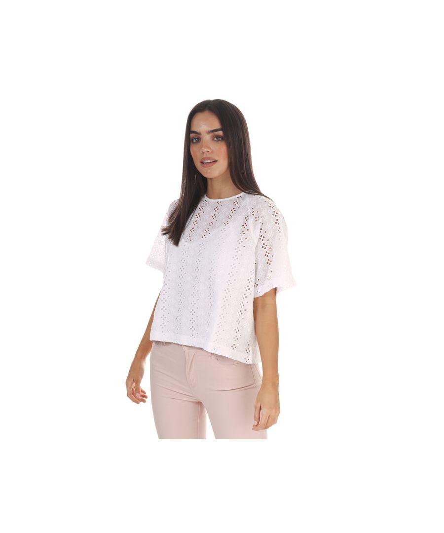 Image for Women's Levis Mia Short Sleeve T-Shirt White 6in White