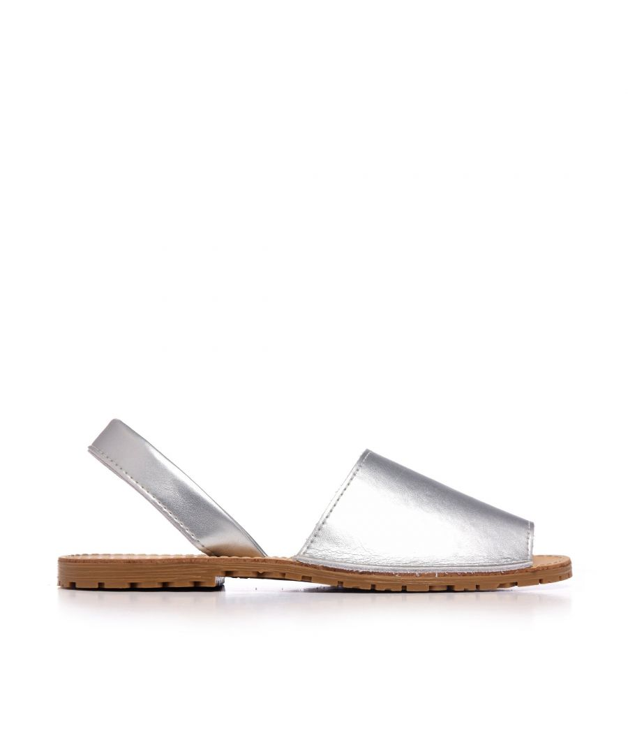 Image for Classic Leather Metalized Sandal Menorquina. Maria Barcelo