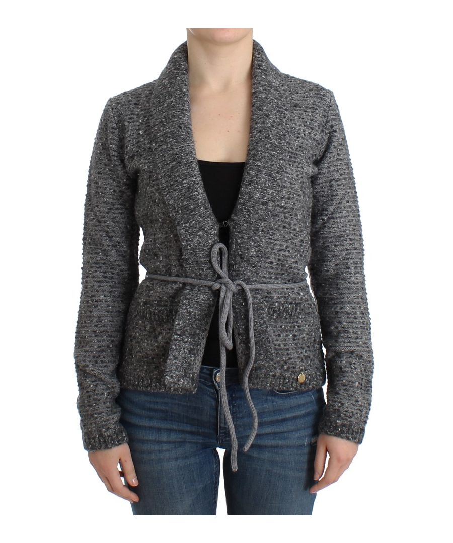 Image for Cavalli Gray wool knitted cardigan