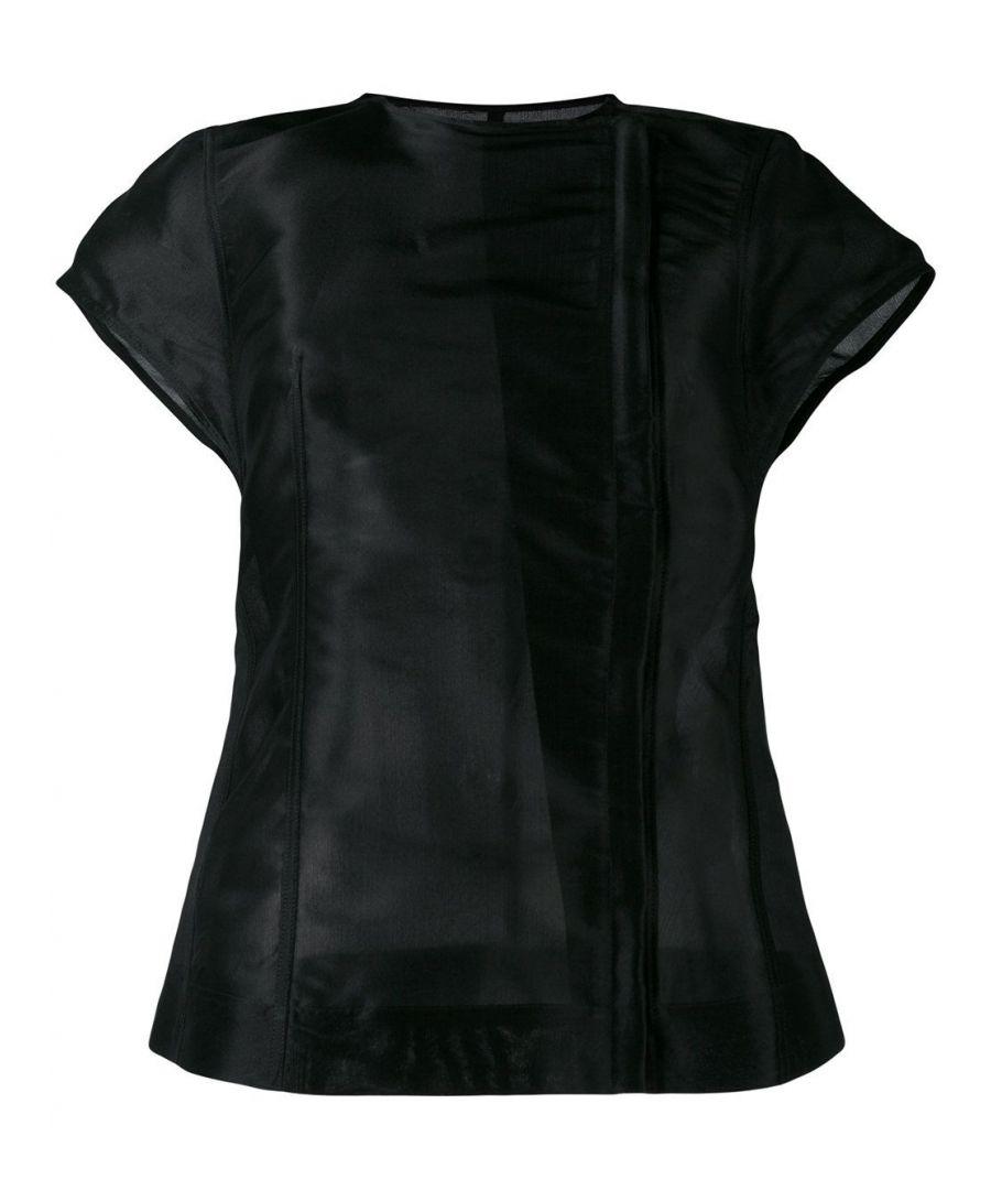 Image for RICK OWENS WOMEN'S RO17S3777NKI09 BLACK SILK JACKET