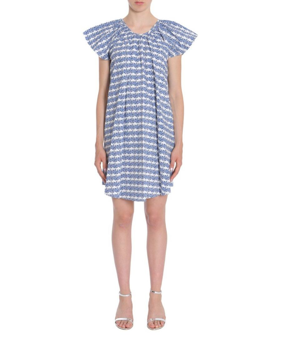 Image for OPENING CEREMONY WOMEN'S S27ABL150444602 BLUE COTTON DRESS