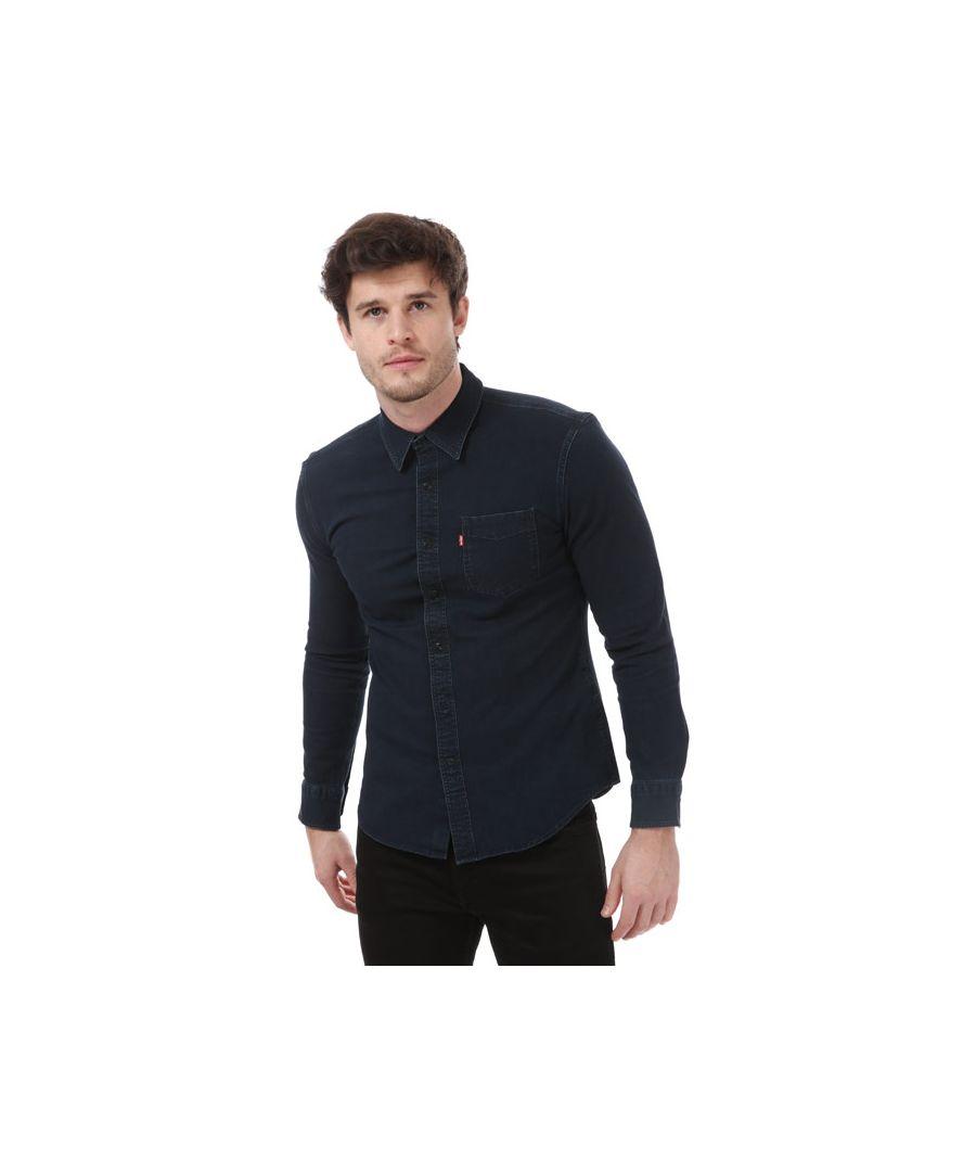 Image for Men's Levis Sunset Slim Stretch Shirt in Black