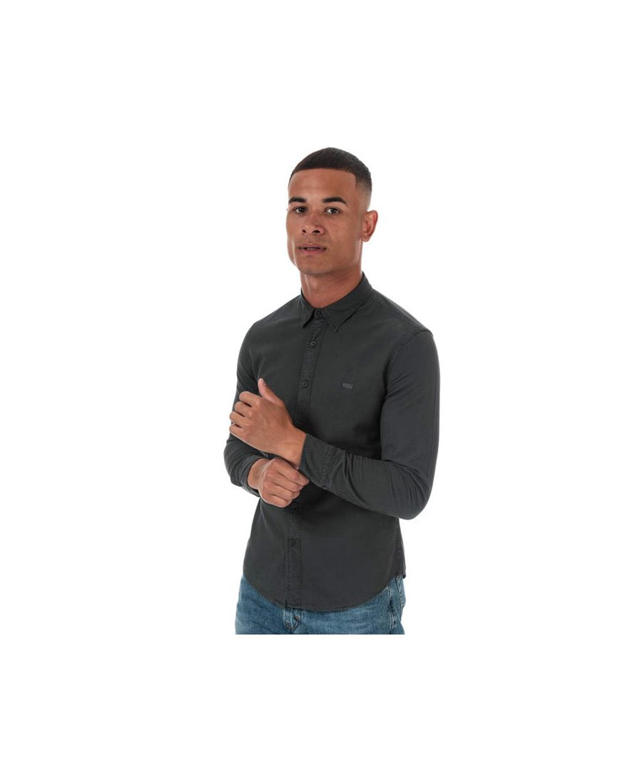 Image for Men's Levis Slim Fit Long Sleeve Shirt in Charcoal