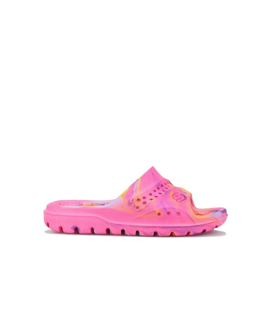 Image for Girl's Skechers Children Hogan Splash Slides in Pink