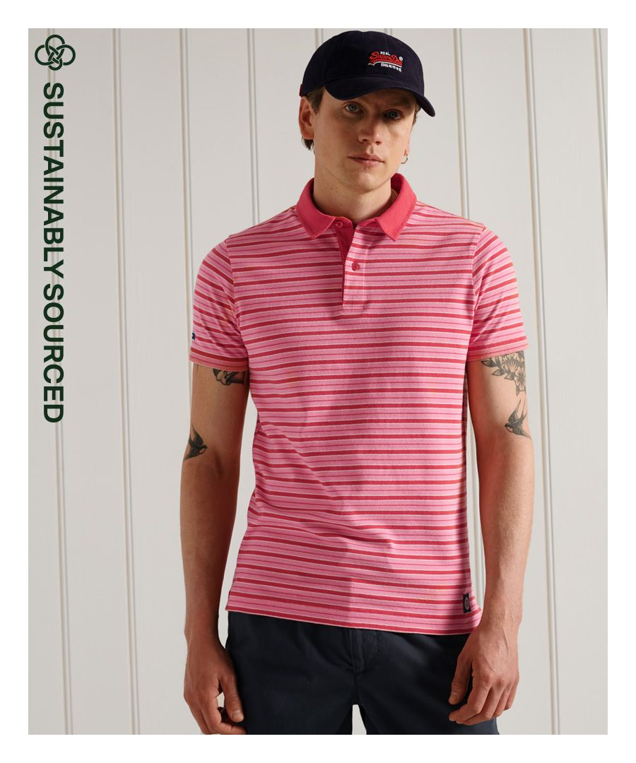Image for SUPERDRY Organic Cotton Academy Stripe Polo Shirt