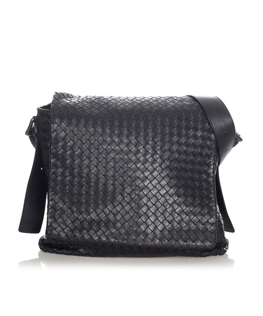 Image for Vintage Bottega Veneta Intrecciato Leather Crossbody Bag Black