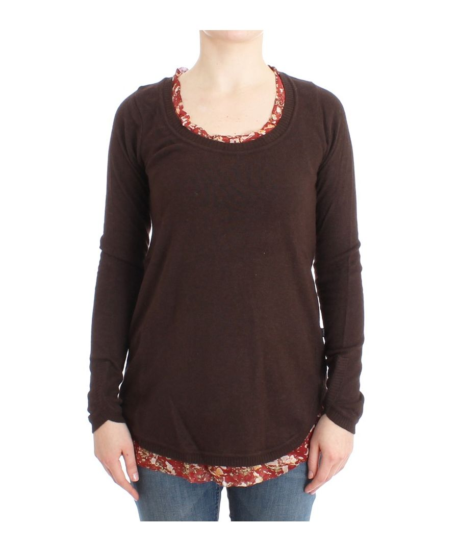 Image for Cavalli Brown crewneck sweater