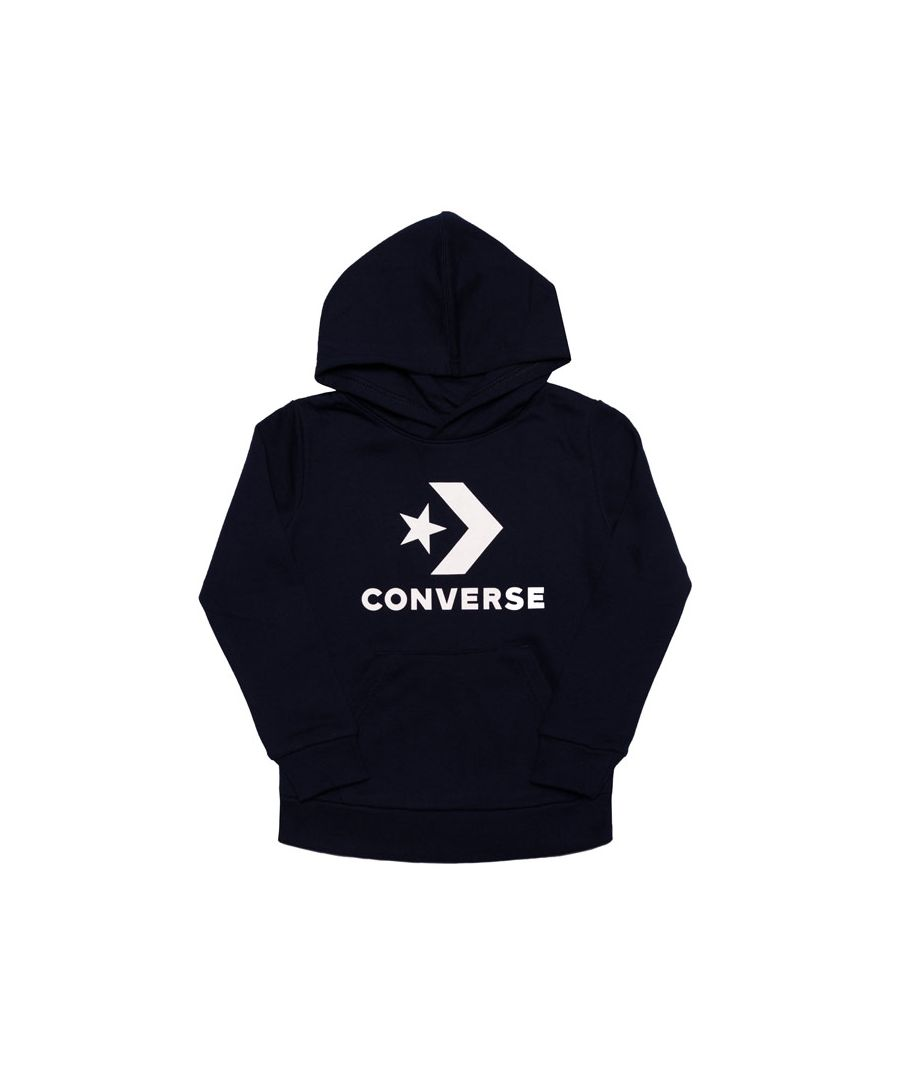 Image for Boy's Converse Infant Stacked Wordmark Fleece Hoody in Navy