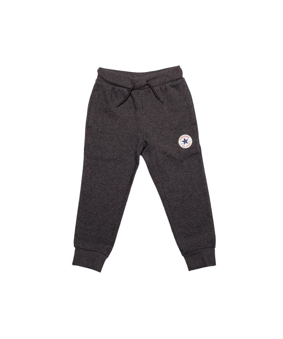 Image for Boy's Converse Infant Fleece Chuck Patch Jog Pant in Charcoal