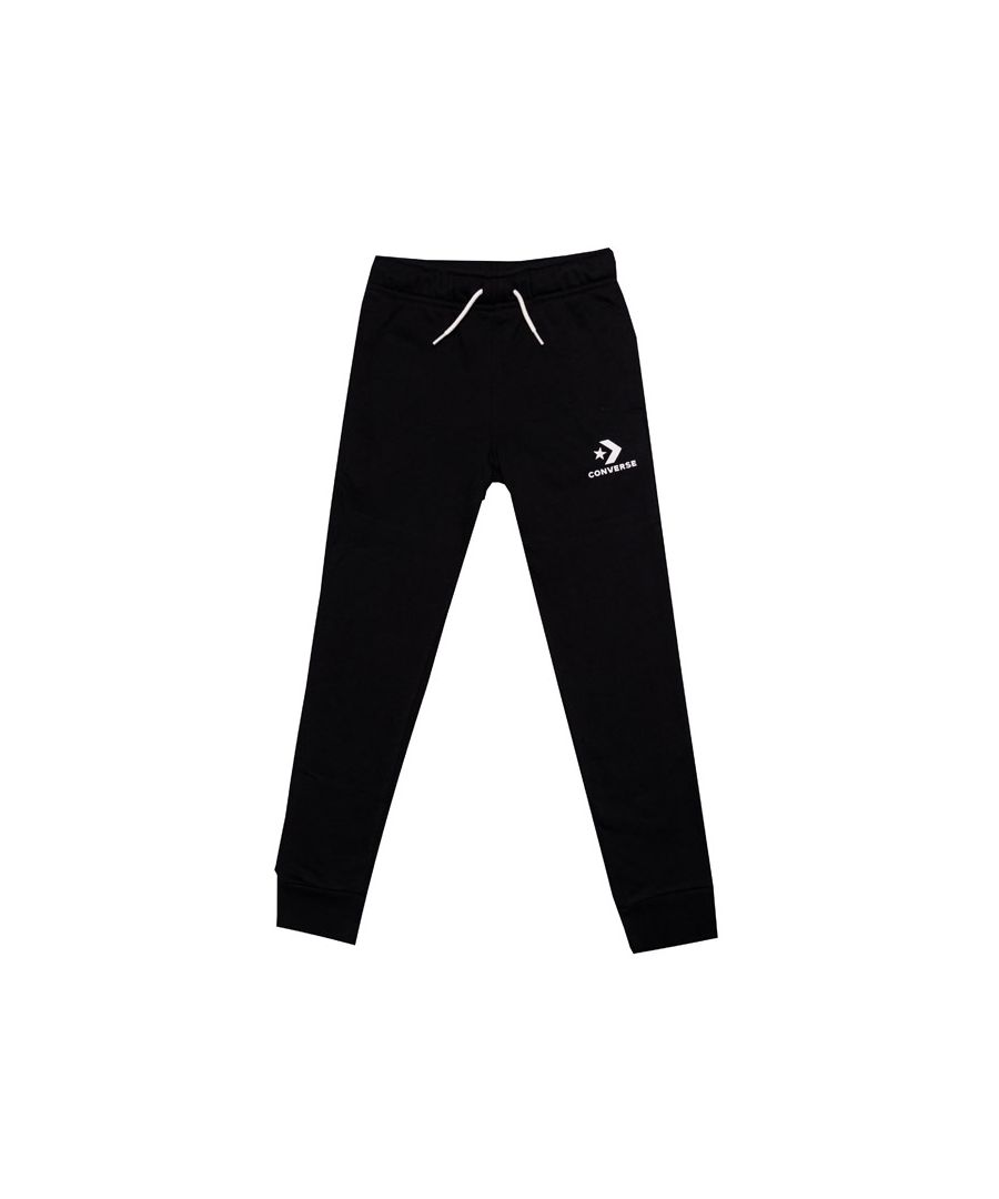 Image for Boy's Converse Infant Stacked Wordmark Jog Pant in Black