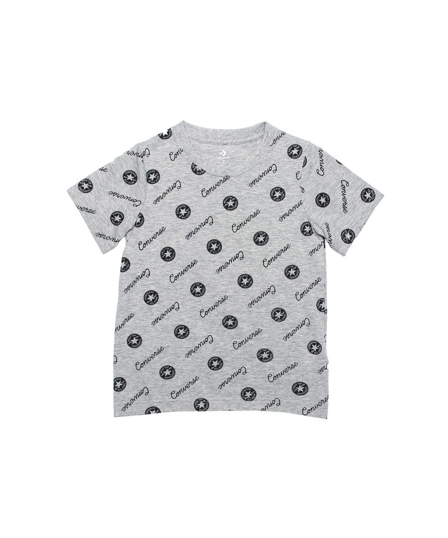 Image for Boy's Converse Infant Micro Signature Chuck T-Shirt in Grey