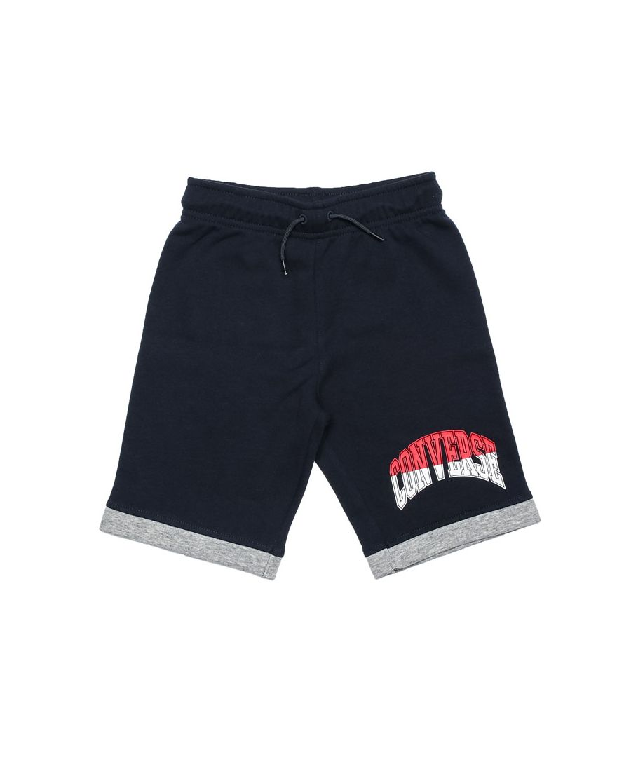 Image for Boy's Converse Infant Asymmetrical Colourblock Shorts in Navy