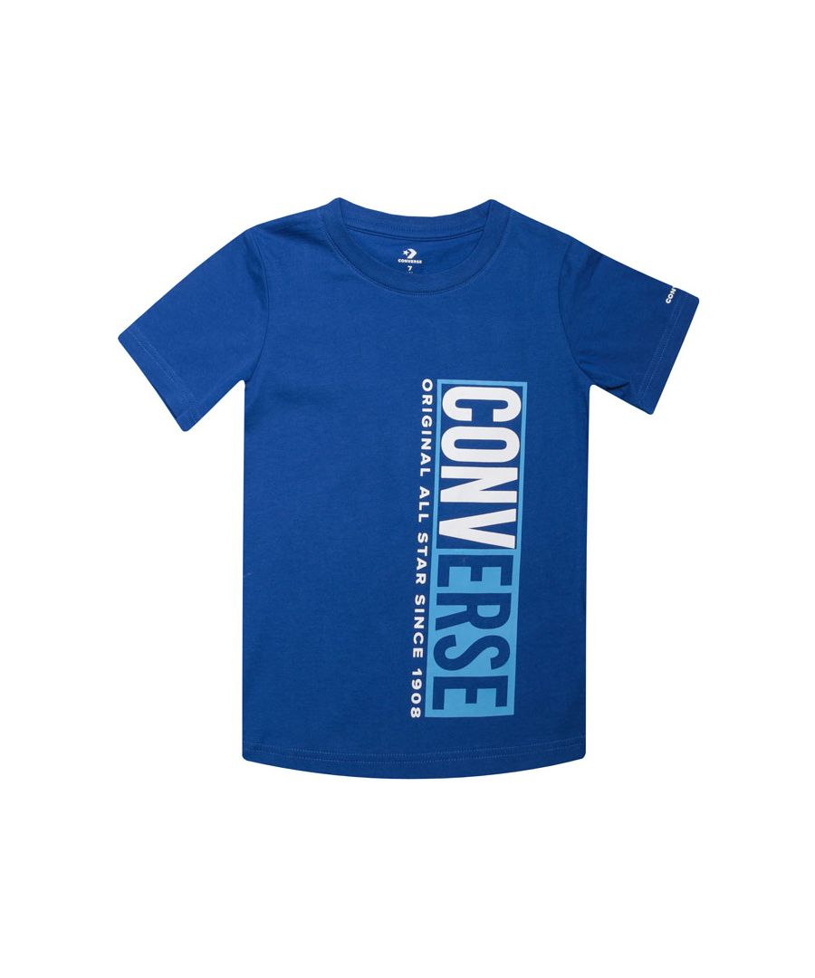 Image for Boy's Converse Infant Split Box T-Shirt in Blue