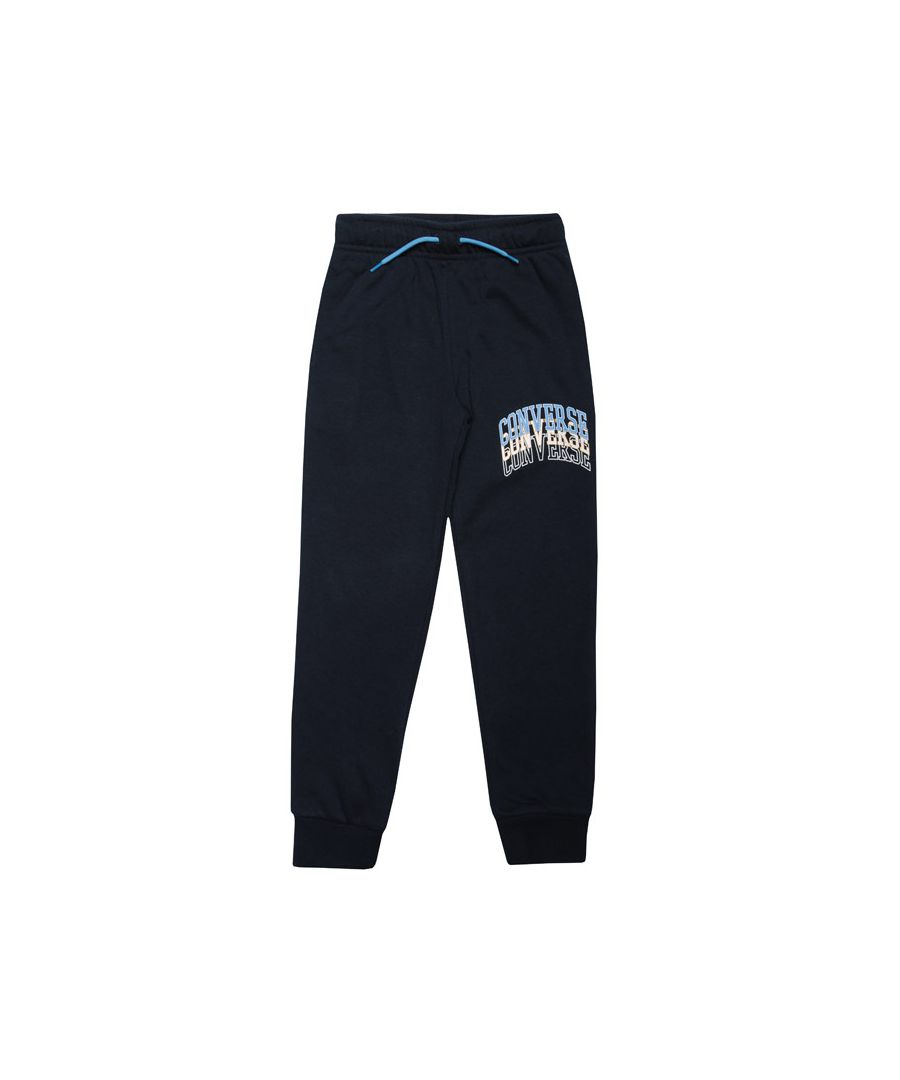 Image for Boy's Converse Infant Colligiate Repeat Jog Pant in Navy