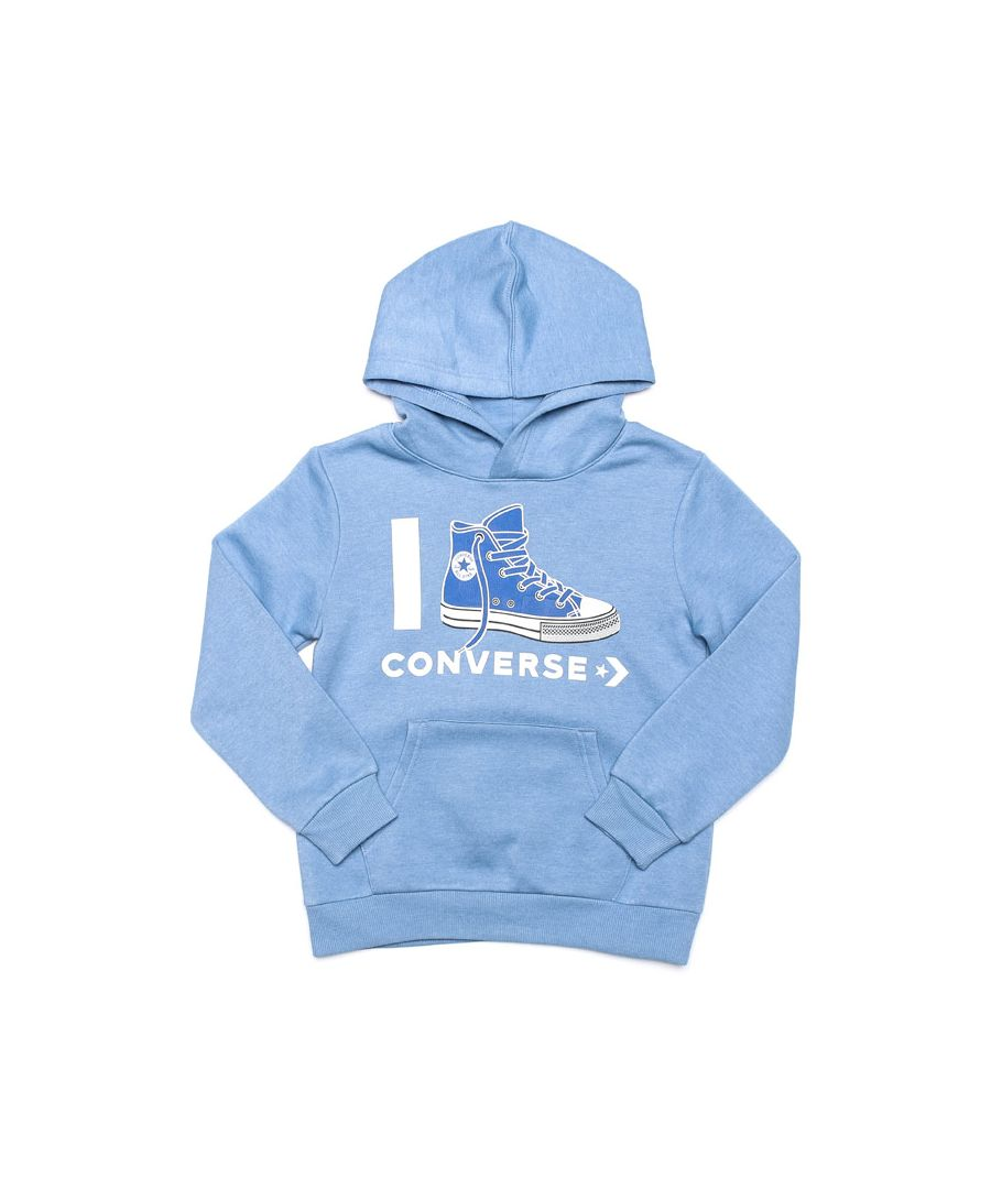 Image for Boy's Converse Infant I Love  Hoody in Light Blue
