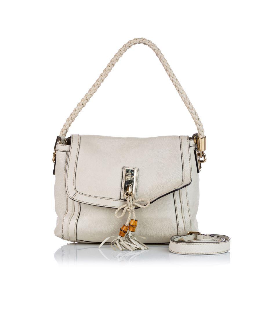 Image for Vintage Gucci Bella Leather Satchel White