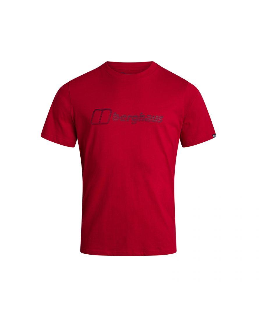 Image for Berghaus Modern Logo Mens T-Shirt Red - XXL