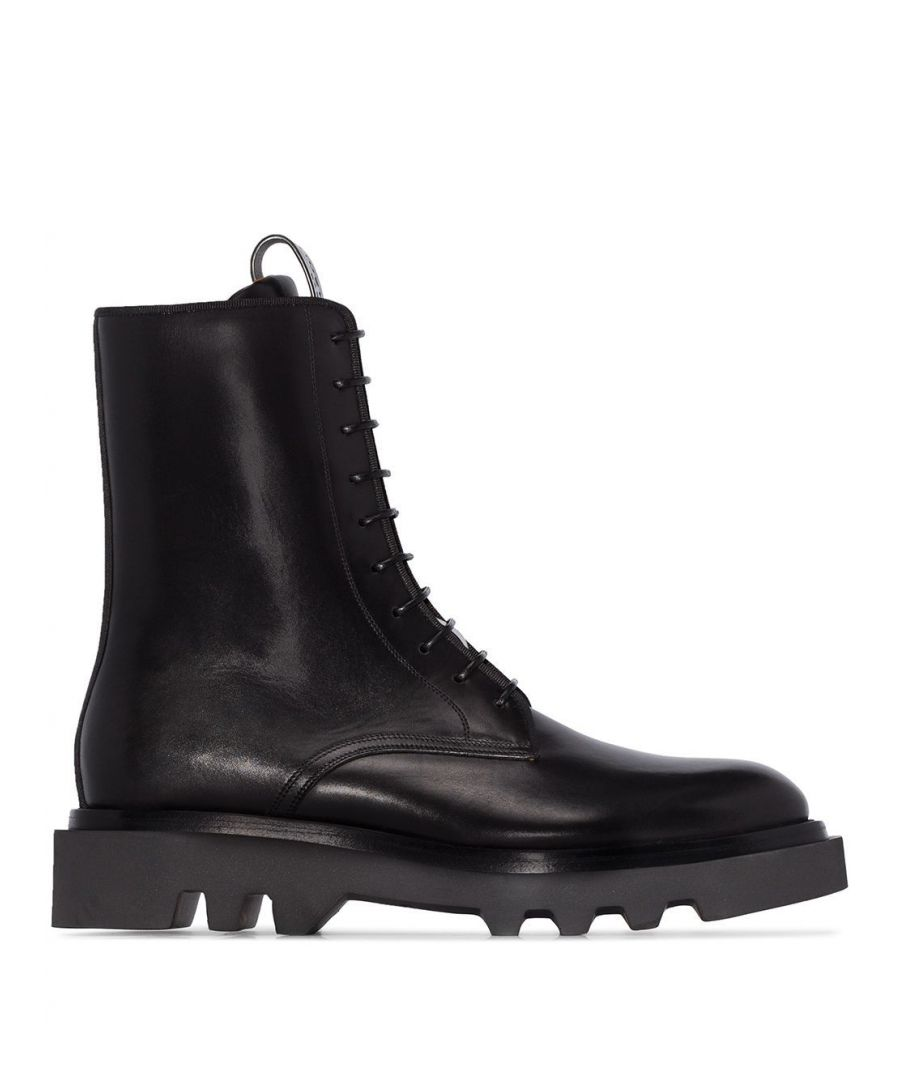 Image for GIVENCHY MEN'S BH601JH0KF001 BLACK LEATHER ANKLE BOOTS