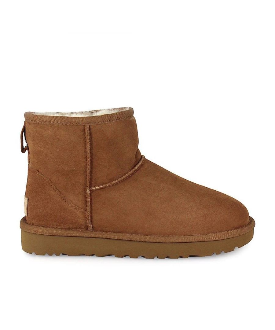 Image for UGG WOMEN'S 1016222WCHESTNUT BROWN SUEDE ANKLE BOOTS