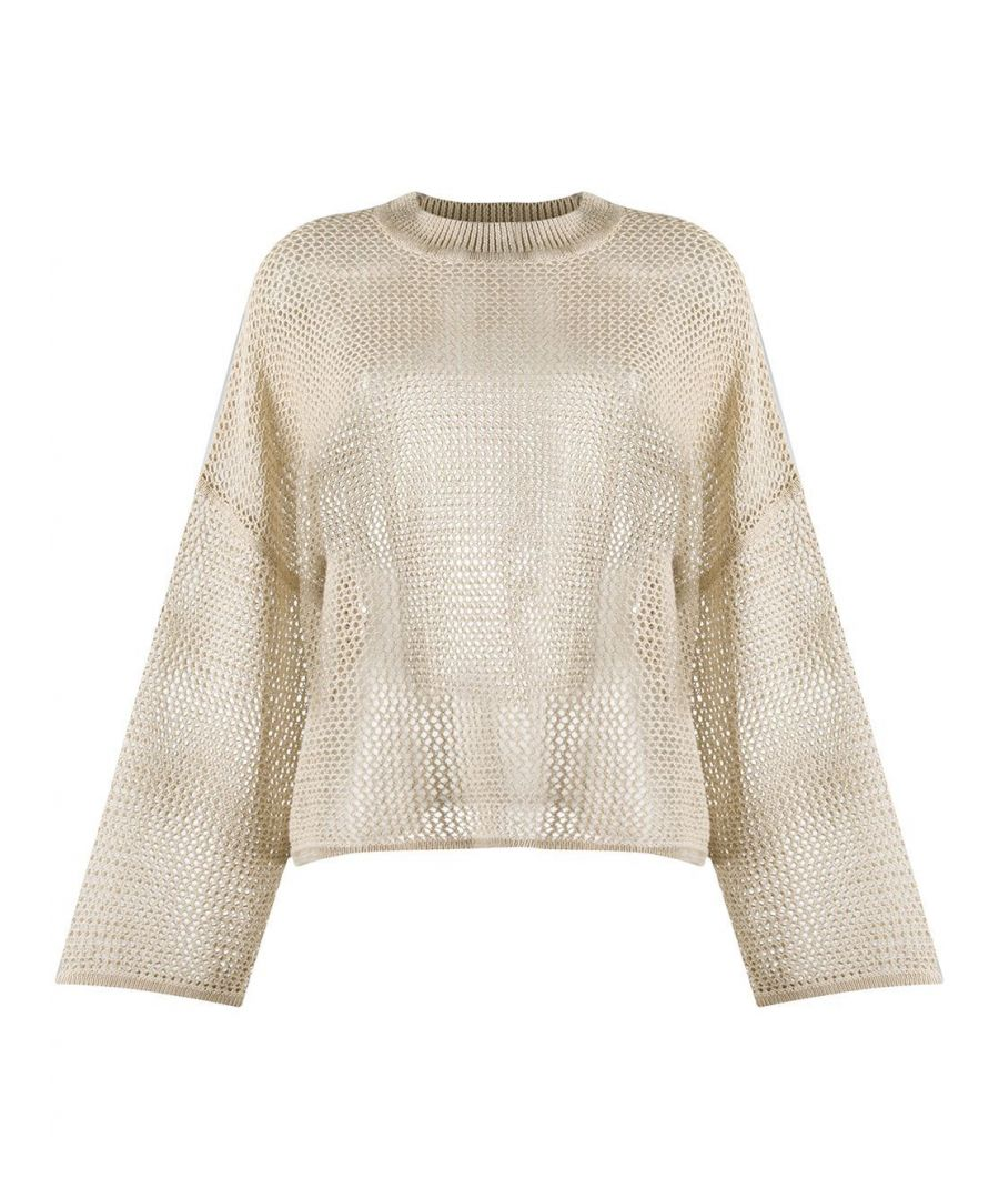 Image for SEE BY CHLOÉ WOMEN'S CHS20UMP1154027D GOLD LINEN SWEATER