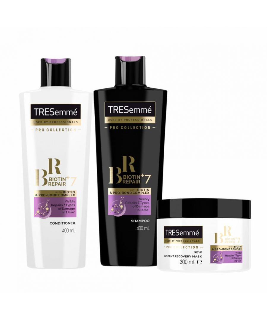Image for TRESemme Biotin Repair+7 Shampoo and Conditioner, 400ml & Mask 300ml