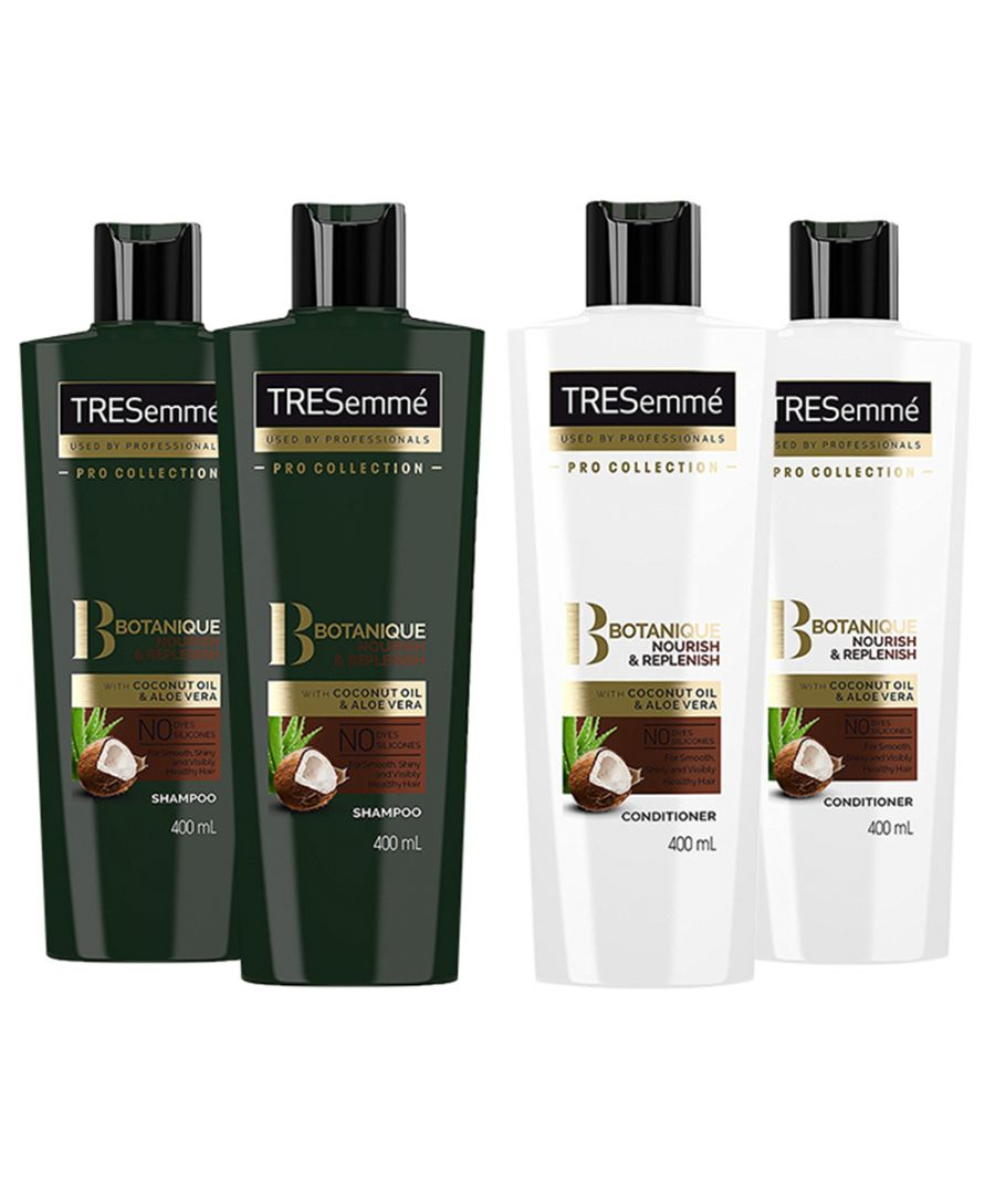 Image for TRESemme Botanique Nourish & Replenish Shampoo Pack of 2 & Conditioner Pack of 2, 400ml