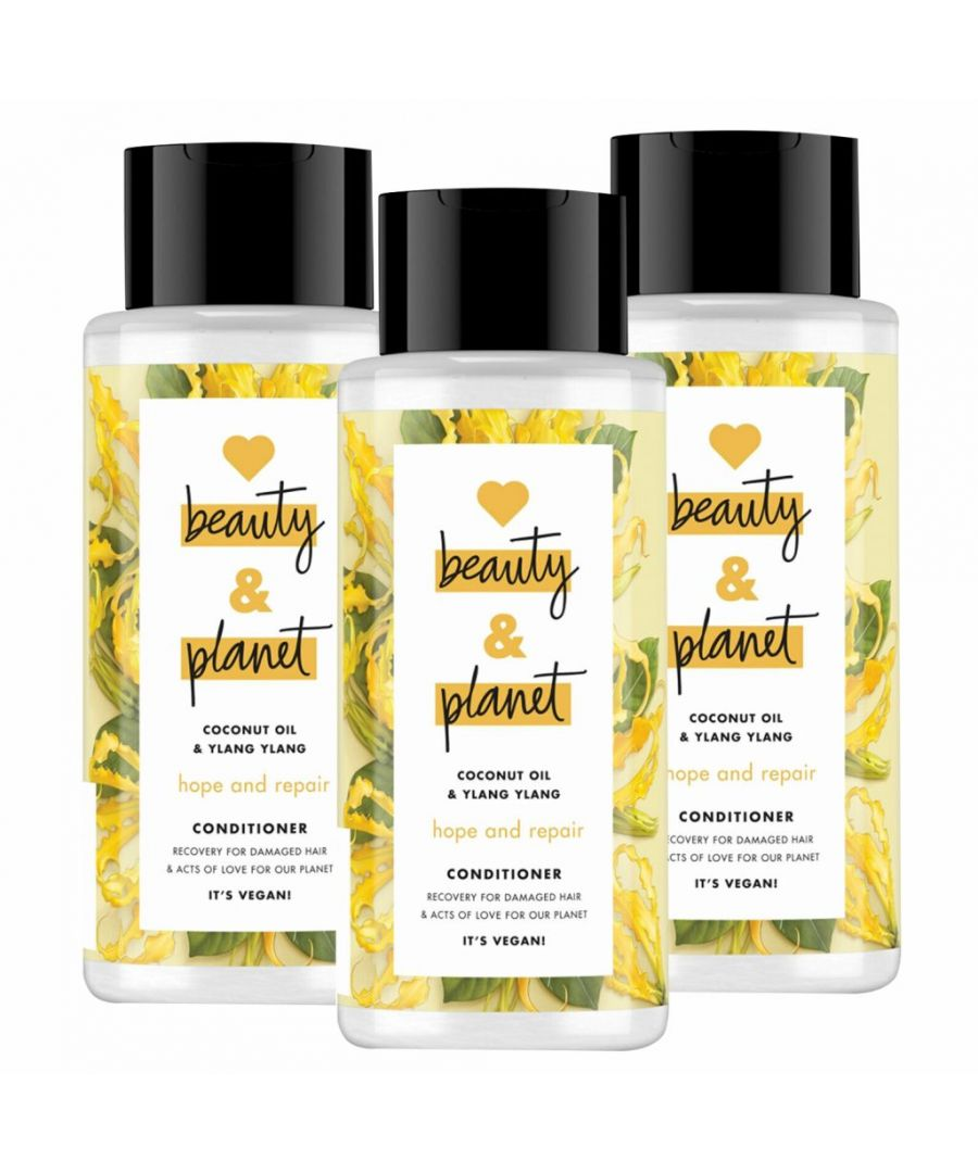Image for Love Beauty & Planet Hope and Repair Coconut Oil & Ylang Ylang Conditioner 3 x 400ml