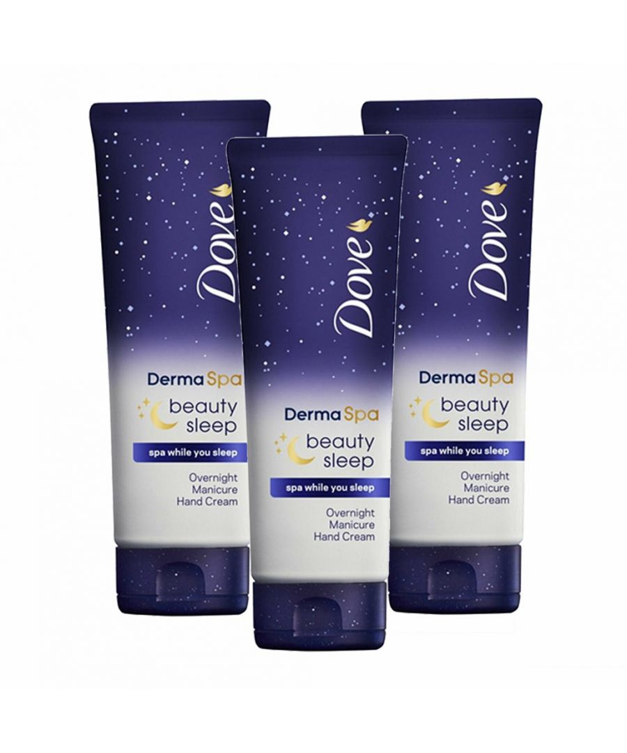 Image for Dove Derma Spa Beauty Sleep Overnight Manicure Hand Cream 3 x 75ml