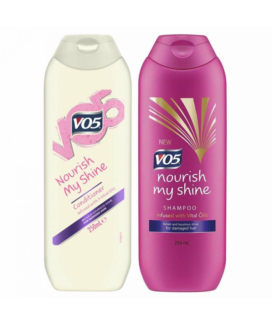Image for VO5 Nourish My Shine Shampoo 250ml & Conditioner x 250ml