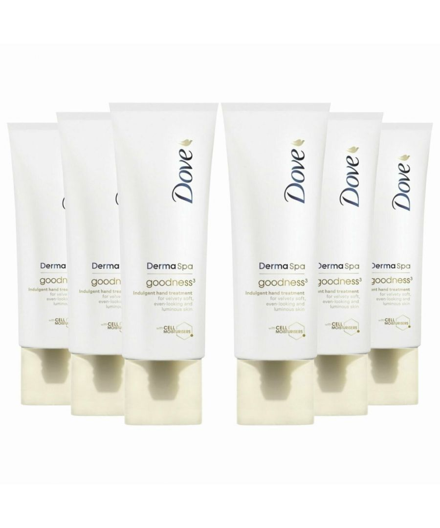 Image for Dove DermaSpa Goodness Hand Cream 6 x 75ml