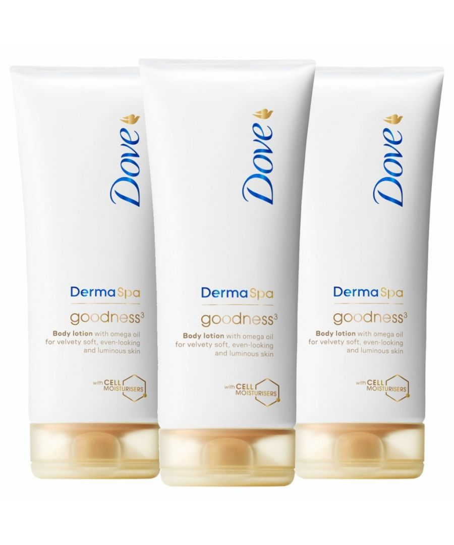 Image for Dove DermaSpa Goodness 3 Body Lotion 3 x 200ml